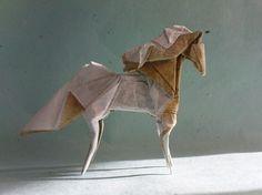 Love this Precious Greek Origami Horse! Origami And Kirigami, Origami Paper Art, Oragami, Origami Horse, Paper Napkin Folding, Horseshoe Art, Shop Displays, Origami Flowers, Horse Art