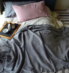 House of Baltic Linen - Dove Grey Rough Linen Bed cover/Coverlet, €129.50 (http://www.houseofbalticlinen.com/dove-grey-rough-linen-bed-cover-coverlet/)