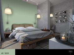 kolor_mietowy__kolor_szary_w_sypialni