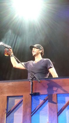 Luke Bryan with his moonshine