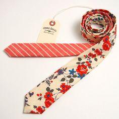 Crewel Floral Skinny Necktie - Handmade Vintage Ties, Bow Ties, Pocket Squares, and Men's Furnishings - General Knot & Co.
