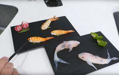 Comment faire des sushis en forme de carpe Koi video 2Tout2Rien
