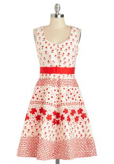 Stamp of My Style Dress. Your outfits always exude a signature flair - take this floral frock, for example.  #modcloth