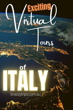 Exciting Virtual Tours Of Italy - Virtual tours are a fabulous resource for planning future travel. We can visit places of interest via Google, YouTube, websites and tour companies, many of whom offer up close experiences with an expert local guide. #virtualtravel #virtualitaly #virtualtours #onlinetravel #travelitaly Italy Travel Tips, Europe Travel Guide, Virtual Travel, Virtual Tour, Beautiful Places To Visit, Cool Places To Visit, Travel Advice, Travel Stuff, Travel Ideas