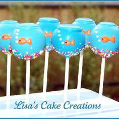 Cake pops - Gold fish tank