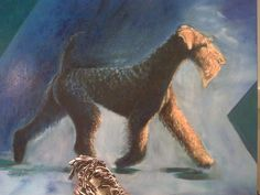 Airedale Terrier-Fantastic painting by Dr. Laura Post.
