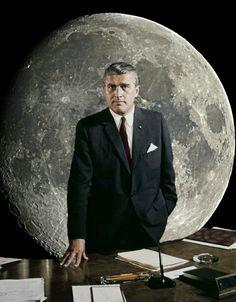 Collage Vintage NASA. Wherner Von Braun. Art by Space.Asylum