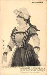 Postcard La Normandie, Coiffes d'Hier, Caen, Habit de Fête, Frau in Tracht