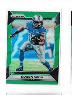 2016 Panini Prizm Green #49 Golden Tate III Detroit Lions Football Card #DetroitLions