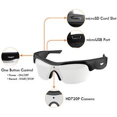 Our High Performance HD720P Video Sunglasses. $169 with FREE EXPEDITED SHIPPING! Tech Gadgets, Camcorder, Cameras, Innovation, Cool Stuff, Sunglasses, Nice, Beautiful, Products