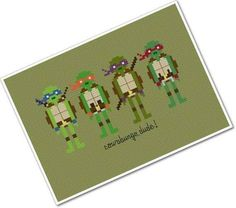 Teenage Mutant Ninja Turtles Cross Stitch Pattern | 50 Etsy Items That Will Hit You Right In The Childhood