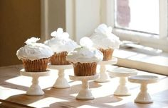 Antique White Ceramic Cupcake Stands - Decor Steals~Enjoy Today's Steal from DECOR STEALS