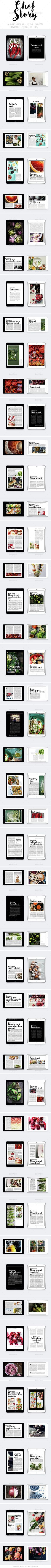 Tablet & Ipad Chef Story Magazine Template InDesign INDD. Download here: http://graphicriver.net/item/tablet-ipad-chef-story-magazine/14891878?ref=ksioks