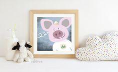 Meerschwein Kinderzimmer Wanddeko niedlich selbstgestaltet Skanifarben