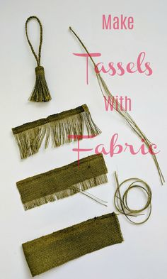 Use fabric to make tassels that match your projects. Get the exact matching or c… Use fabric to make tassels that match your projects. Get the exact matching or contrasting color tassels you need for your sewing projects. Diy Sewing Projects, Sewing Projects For Beginners, Sewing Hacks, Sewing Crafts, Sewing Tips, Sewing Tutorials, Diy Crafts, Sewing Patterns Free, Free Sewing