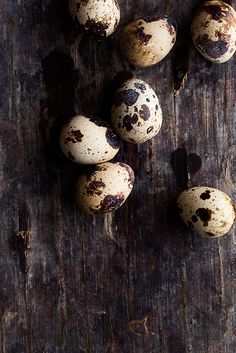 "Quail Eggs. I used to buy these on Easter and dye them for my little girl. She loved the speckled ""baby"" eggs!"