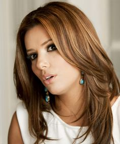 Eva Longoria Hair Color | Eva Longoria Parker Hairstyle - Formal Long Straight Hairstyle - 10879 ...