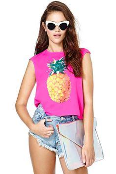 Reverse Pineapple Paradise Tank  - Pineapple Perfection #nastygal
