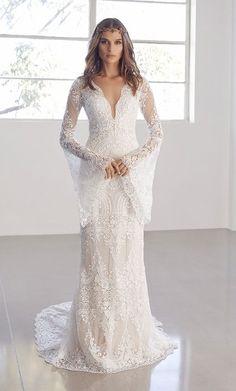 Featured Wedding Dress: Suzanne Harward; Photographer: Tāne Coffin; Model: Nathalie Sinkvist; Wedding dress idea.