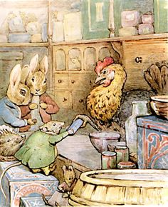 Peter Rabbit and Benjamin Bunny from Ginger and Pickles by Beatrix Potter