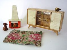 more cute vintage dollhouse furniture