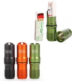 Easily Portable Waterproof Emergency Gear Pill/Match Case 3 Colors