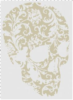 inks saver flower skull pdf cross stitch by CrossStitchGraphghan