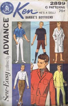 Finding free Barbie doll patterns can be a challenge. Especially with all the different types of Barbie& on the market, including the vintage Barbie& that many Moms have passed down to their daughteBilderesultat for free printable ken doll clothes pa Barbie Sewing Patterns, Doll Clothes Patterns, Vintage Sewing Patterns, Sewing Clothes, Doll Patterns, Clothing Patterns, Easy Patterns, Diy Ken Doll Clothes, Pattern Sewing