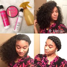 Protective Natural Hair Styles  quick halo braids
