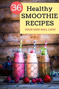 And pretty, too! Smoothies are the perfect fast food. They are made even better when you use a Vitamix, although it's not necessary to enjoy these 7 plant-based smoothie recipes. Whir one of these recipes up today! Strawberry Kale Smoothie, Mango Smoothie Healthy, Chocolate Avocado Smoothie, Healthy Smoothies For Kids, Blueberry Banana Smoothie, Chocolate Peanut Butter Smoothie, Yummy Smoothie Recipes, Nutribullet Recipes, Healthy Snacks