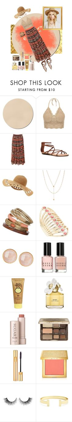 """Boho Look"" by elmoknowswhereyoulive ❤ liked on Polyvore featuring WALL, Alice & You, Steve Madden, Jennifer Zeuner, Wallis, Lane Bryant, Saachi, Bobbi Brown Cosmetics, Sun Bum and Marc Jacobs"
