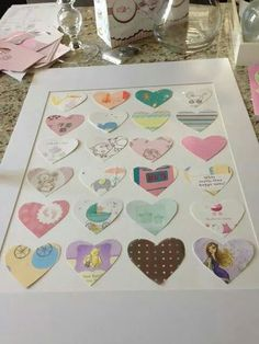 Take baby shower cards and make them into a picture of the nursery.