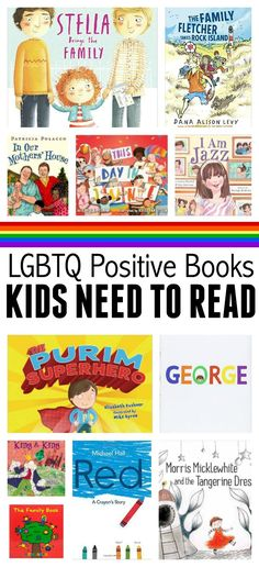 LGBTQ books for preschool and elementary school. Great book list from http://NoTimeForFlashCards.com