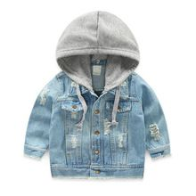 c97d99c41 LILIGIRL Vintage Girls Casual Jeans Jacket for Baby Boys Hooded Denim  Clothes Coats Outwear Kids Autumn Tops Coat Jackets
