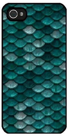 GrabYourDesign - Case for Iphone 5/5S turquoise and scales  - by Grab My Art