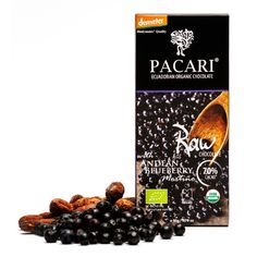 Raw 70% Cacao with Andean Blueberry Chocolate Bar