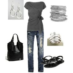 Love This!, created by -olmy71  on -polyvore . -Fashion  -style  Abercrombie & Fitch -Versace