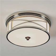 Polished nickel, bronze or brass ceiling flush mount light