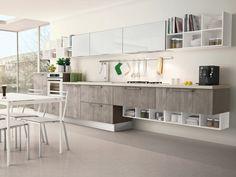 moderne praktische Küche planen Unterschränke Wandregal System