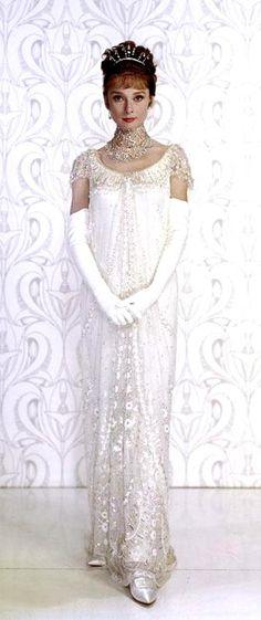 Audrey Hepburn in My Fair Lady... Dress by Cecil Beaton 1964.  Via @classicmoviehub.  #AudreyHepburn #MyFairLady