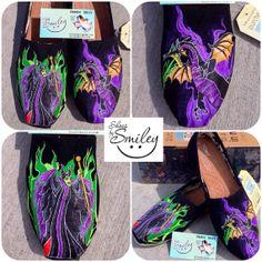 1f527cb67cb Disney Sleeping Beauty Maleficent and Dragon Hand by ShoesBySmiley
