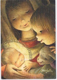 Navidad Más di Juan Ferrandìz per icona Natale 2016 Spanish Christmas, Christmas Art, Christmas Scenes, Christmas Angels, Blessed Virgin Mary, Holy Family, Blessed Mother, Mother Mary, Sacred Art