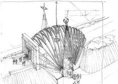 Makovecz Imre - Rajzok Personal Space, Fungi, Past, Nova, Sketch, Drawings, Modern, Artist, Painting