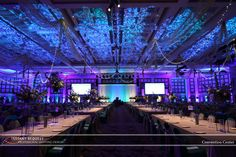 Wedding Uplighting at the Minneapolis Convention Center.