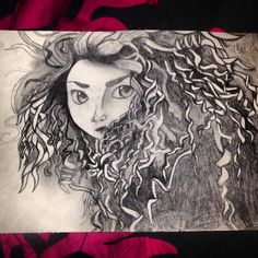My drawing if Merida from brave! What a great movie :)