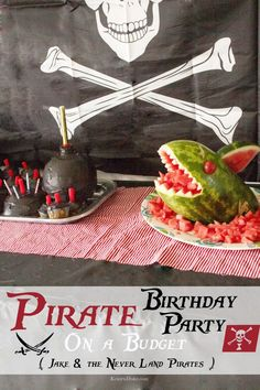 Pirate Birthday Party On a Budget {Disney Junior Jake & the Never Land Pirates} || KristenDuke.com great birthday theme for boys or any kid who likes pirates!