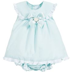 Paloma De La O Baby Girls Mint Green 2 Piece Top & Shorts Set at Childrensalon.com