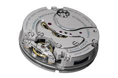 On Caliber P.2004, a chronograph movement, one sees mostly bridges rather than wheels, typical of Panerai's movement architecture.