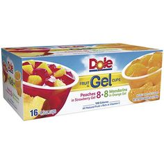 Dole Fruit in Gel Cups Variety Pack - oz Cups - 16 pk. (pack of Fruit Cups, Fruit Snacks, Yummy Snacks, Fruit Bowls, Weird Food, Crazy Food, On The Go Snacks, Best Fruits, Survival Food