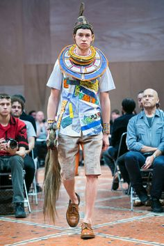 A look from the Junya Watanabe Man Spring 2016 Menswear collection.